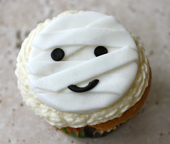 Halloween Fondant Cupcake Toppers
