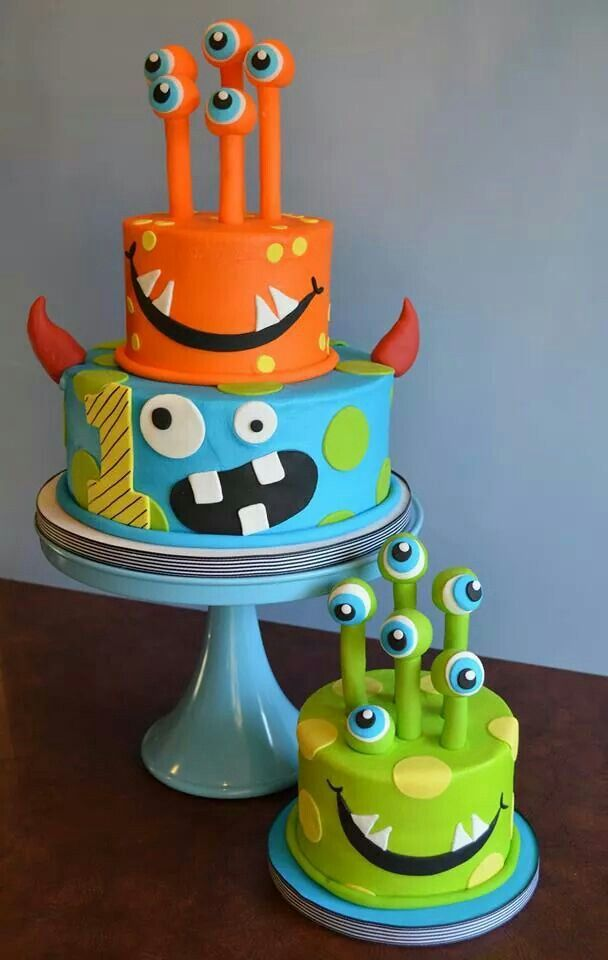 8 Photos of Halloween Monster Cakes For Girl