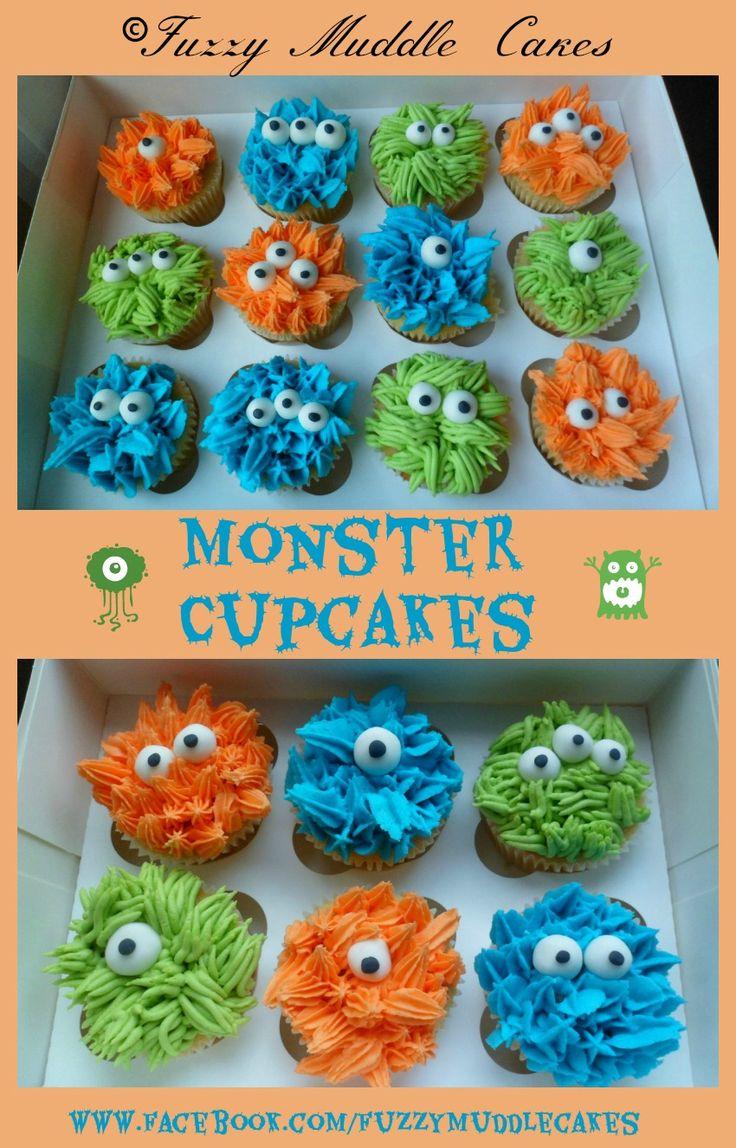Halloween Monster Birthday Cupcakes