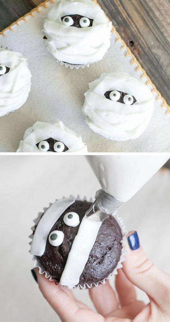 11 Photos of Ideas For Halloween Mummy Cupcakes