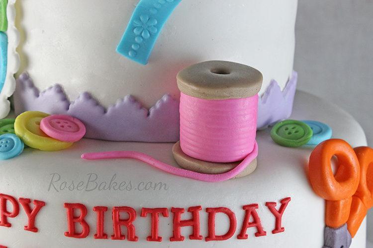 Happy Birthday Sewing Cake