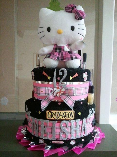 Hello Kitty Towel Cake