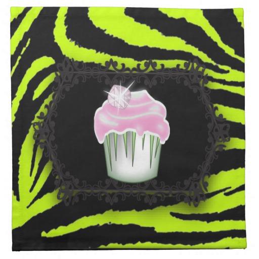 Hot Pink Lime Green Zebra Print
