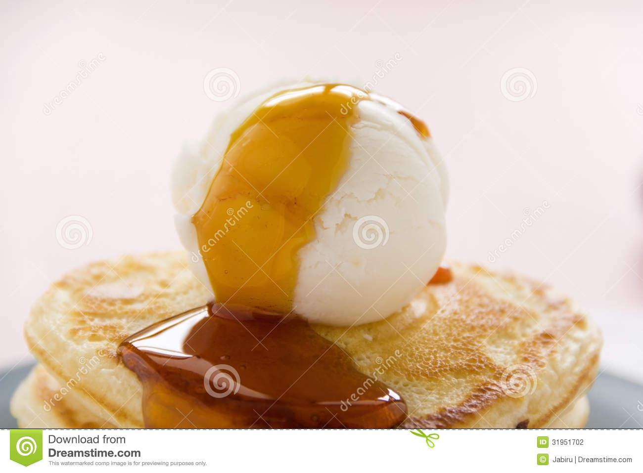 Maple Syrup On Ice Cream
