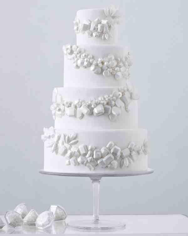 Martha Stewart White Wedding Cake