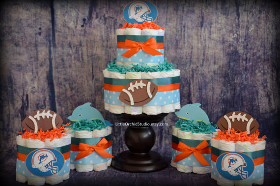 Miami Dolphins Baby Shower Cake
