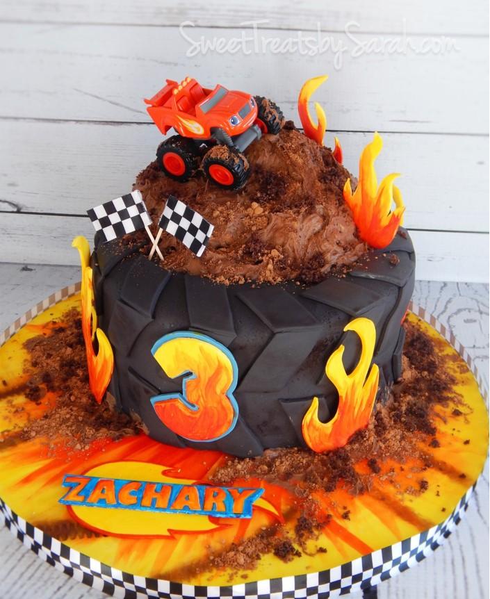 Monster Machine Birthday Cake Blaze