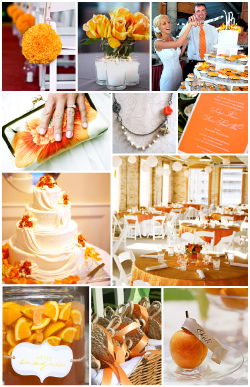Orange and Silver Wedding