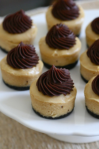 6 Photos of Chocolate Peanut Butter Cup Mini Cheesecakes