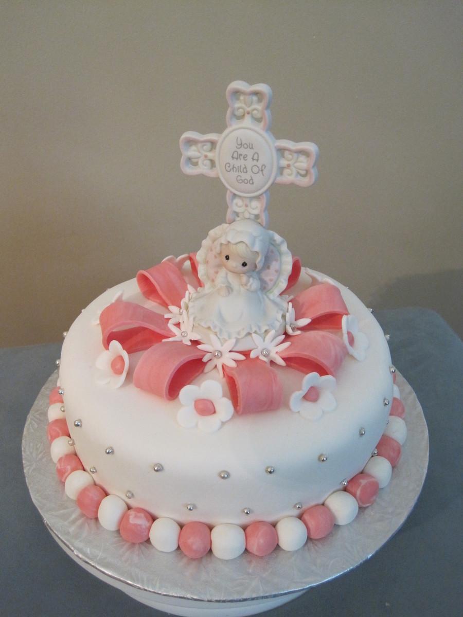 Precious Moments Baptism Cake for Girls