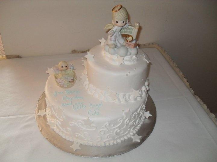 Precious Moments Baptism Cake
