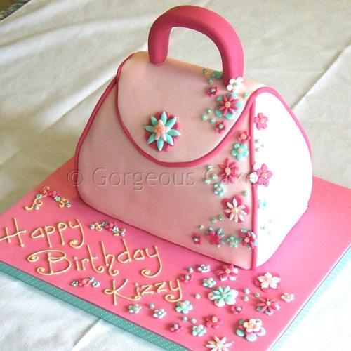 Purse Shaped Birthday Cake