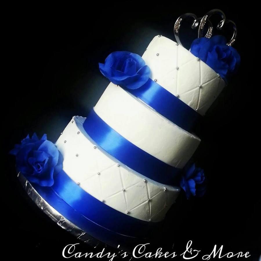 8 Photos of Royal Blue Wedding Cakes With Buttercream