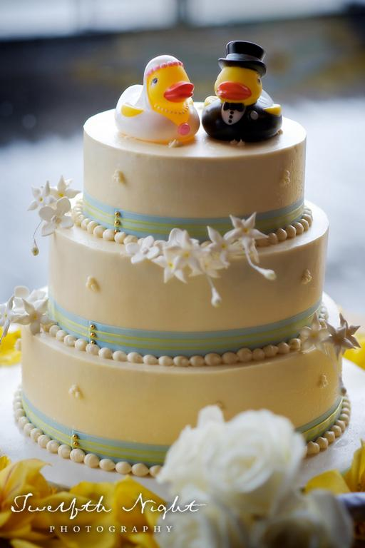 8 Photos of Wedding Cakes Purple And Blue Rubber Ducks