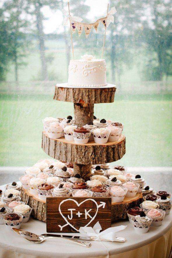 Rustic Wedding Cake and Cupcake Ideas