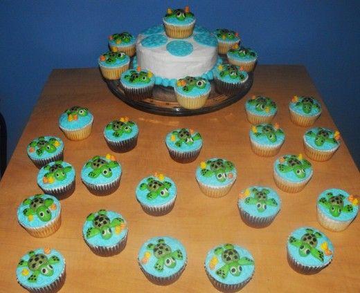 Sea Turtle Cupcake Cake