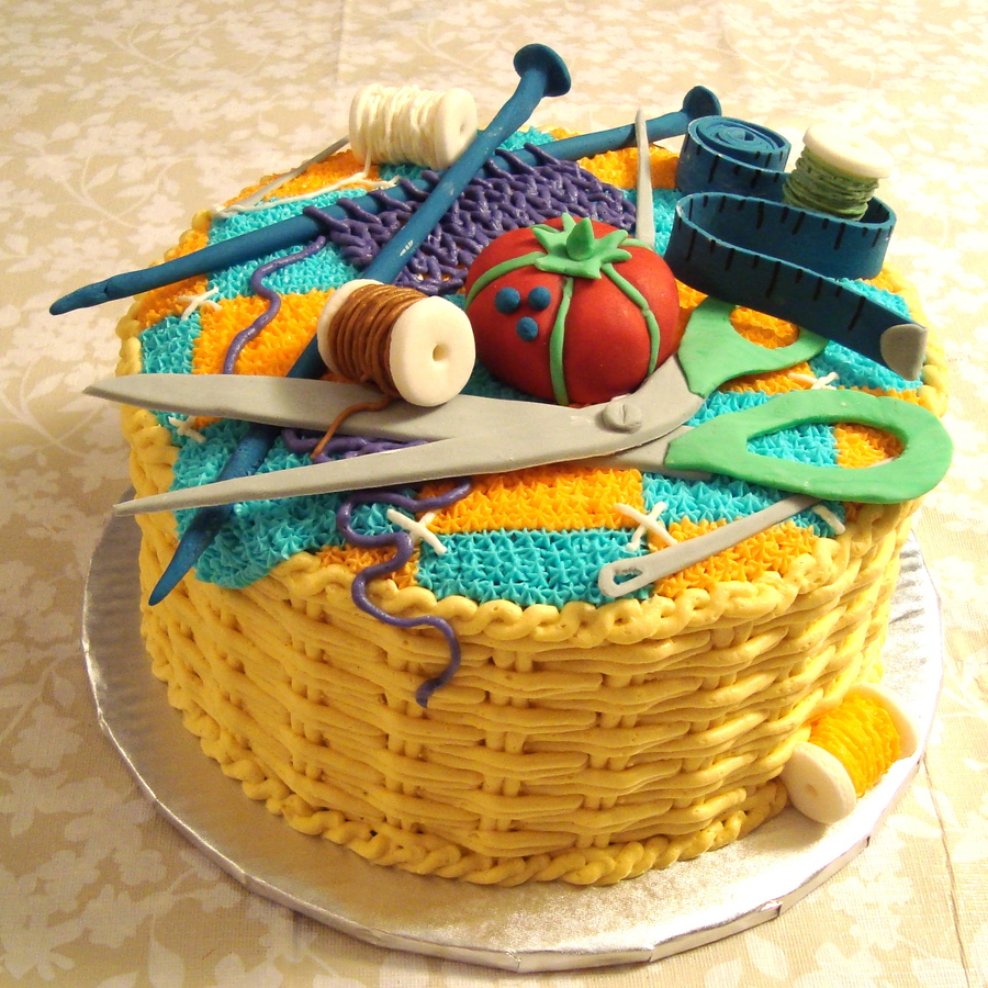 Sewing Basket Birthday Cakes