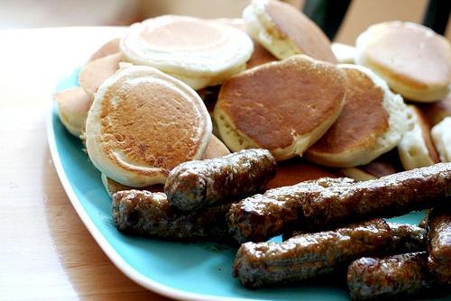 Silver Dollar Pancakes and Sausage Links