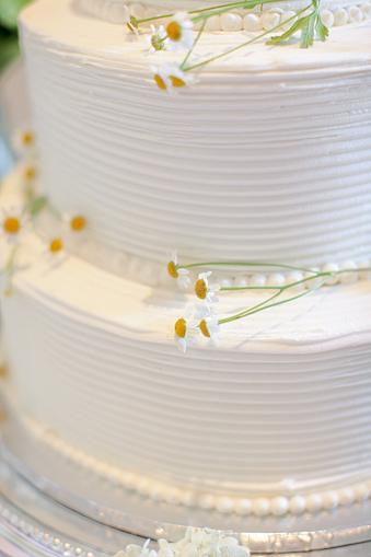 Simple White Round Wedding Cakes