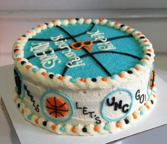 Tar Heels Basketball Cake