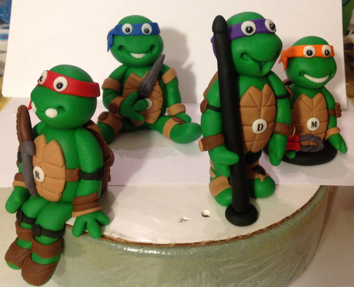 Teenage Mutant Ninja Turtles Fondant Cake Toppers