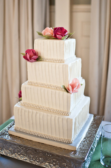 11 Photos of Square Wedding Cakes With Buttercream