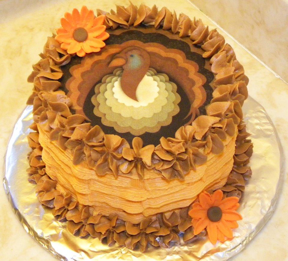 Thanksgiving Give Thanks Cake