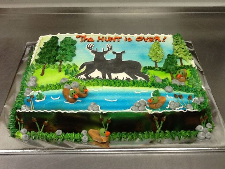 The Hunt Is Over Grooms Cake Sheet