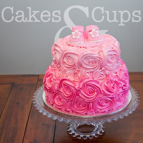 Two Tier Baby Shower Cakes for Girls