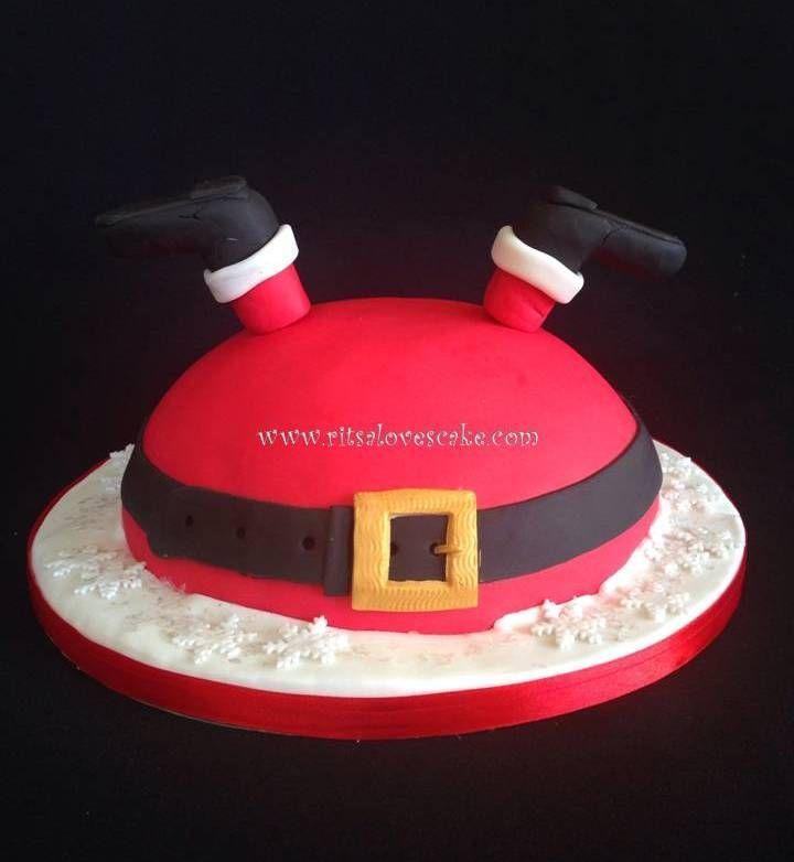 Upside Down Santa Cupcakes