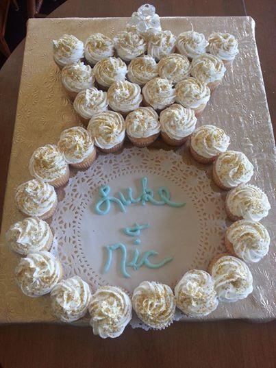 Wedding Ring Bridal Shower Cupcake Cake