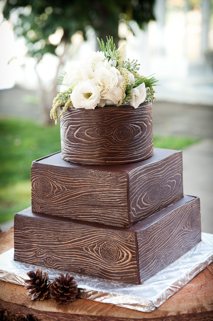 Wood Wedding Cake Ideas