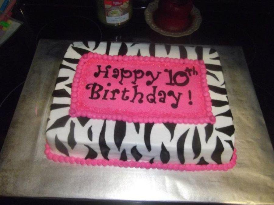 Zebra Sheet Cake