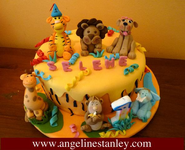 1 Year Birthday Cake Design Animal