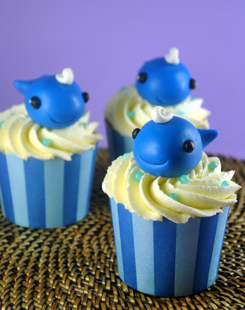 Baby Whale Cupcakes