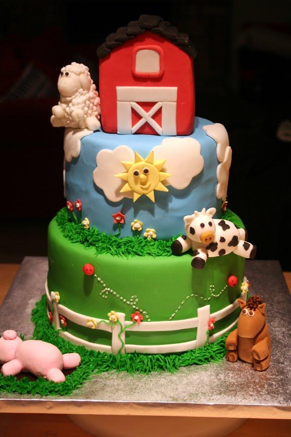 9 Photos of Barnyard Animal Cakes