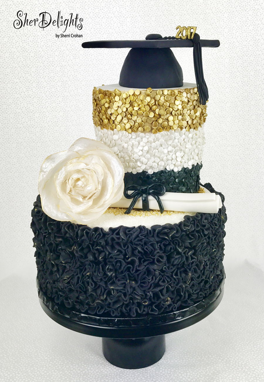 Bling Graduation Cake