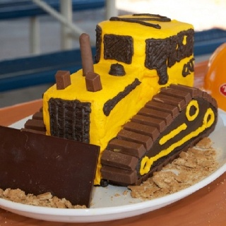 Bobcat Equipment Birthday Cake