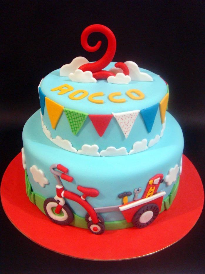 Terrific 13 Toddler Boy Second Birthday Cakes Photo Boys Birthday Cake Funny Birthday Cards Online Hetedamsfinfo