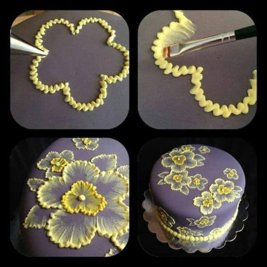Brush Embroidery Cake Decorating Easy Ideas