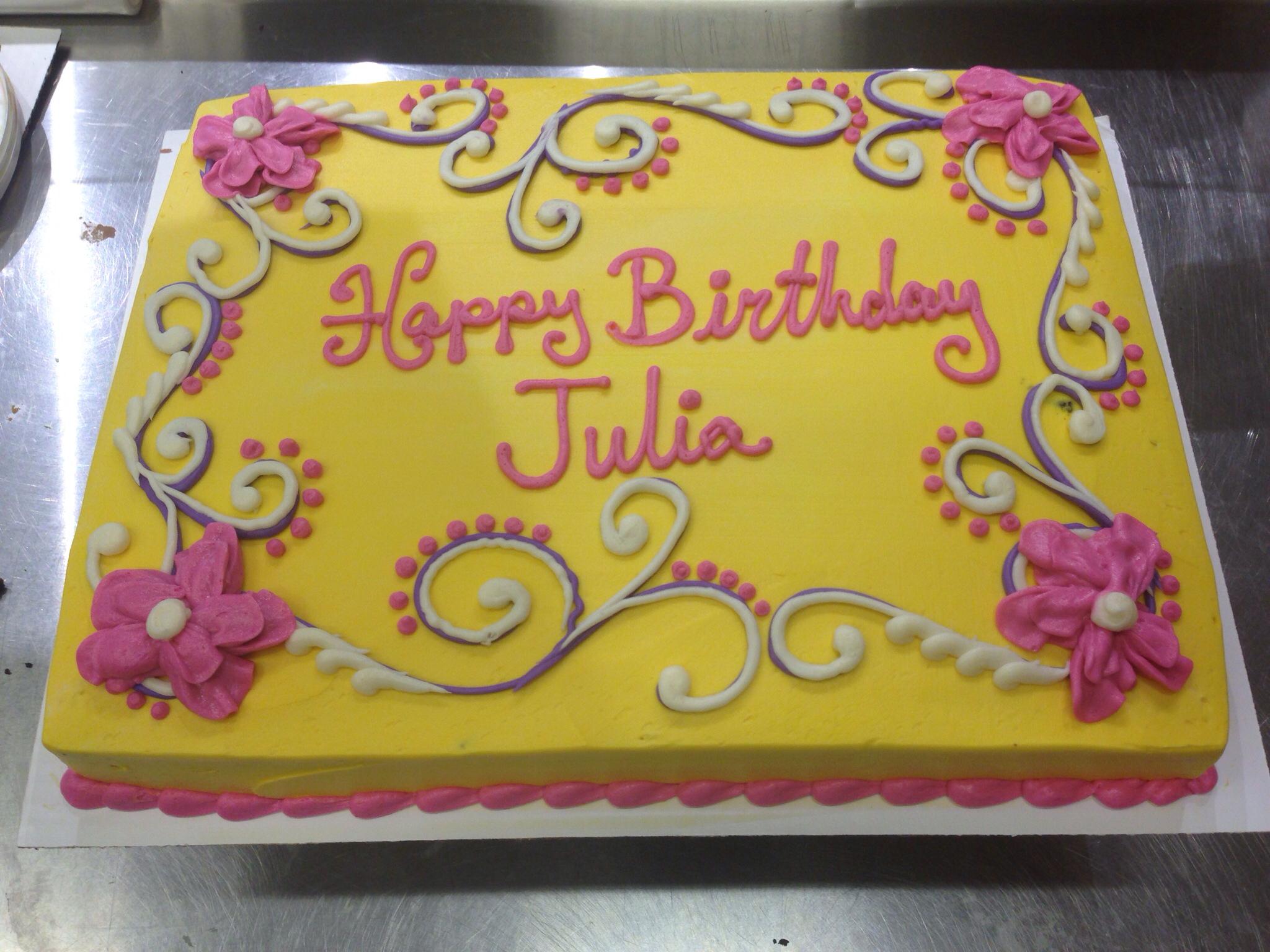 Buttercream Flower Sheet Cakes