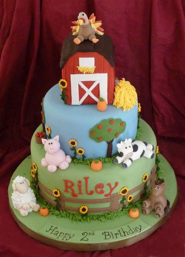 Cake Fondant Farm Animals