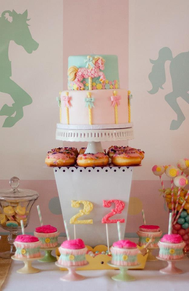 Carousel Theme Birthday Cake