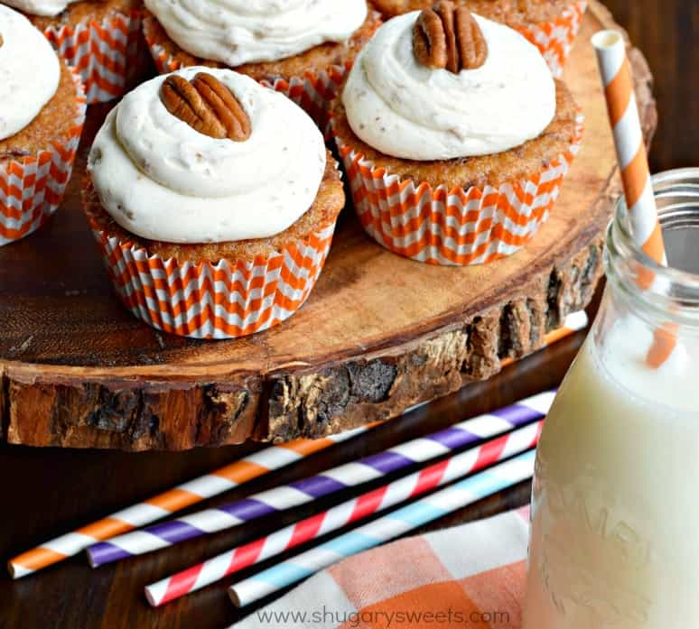 Carrot Cake Cupcakes From Scratch