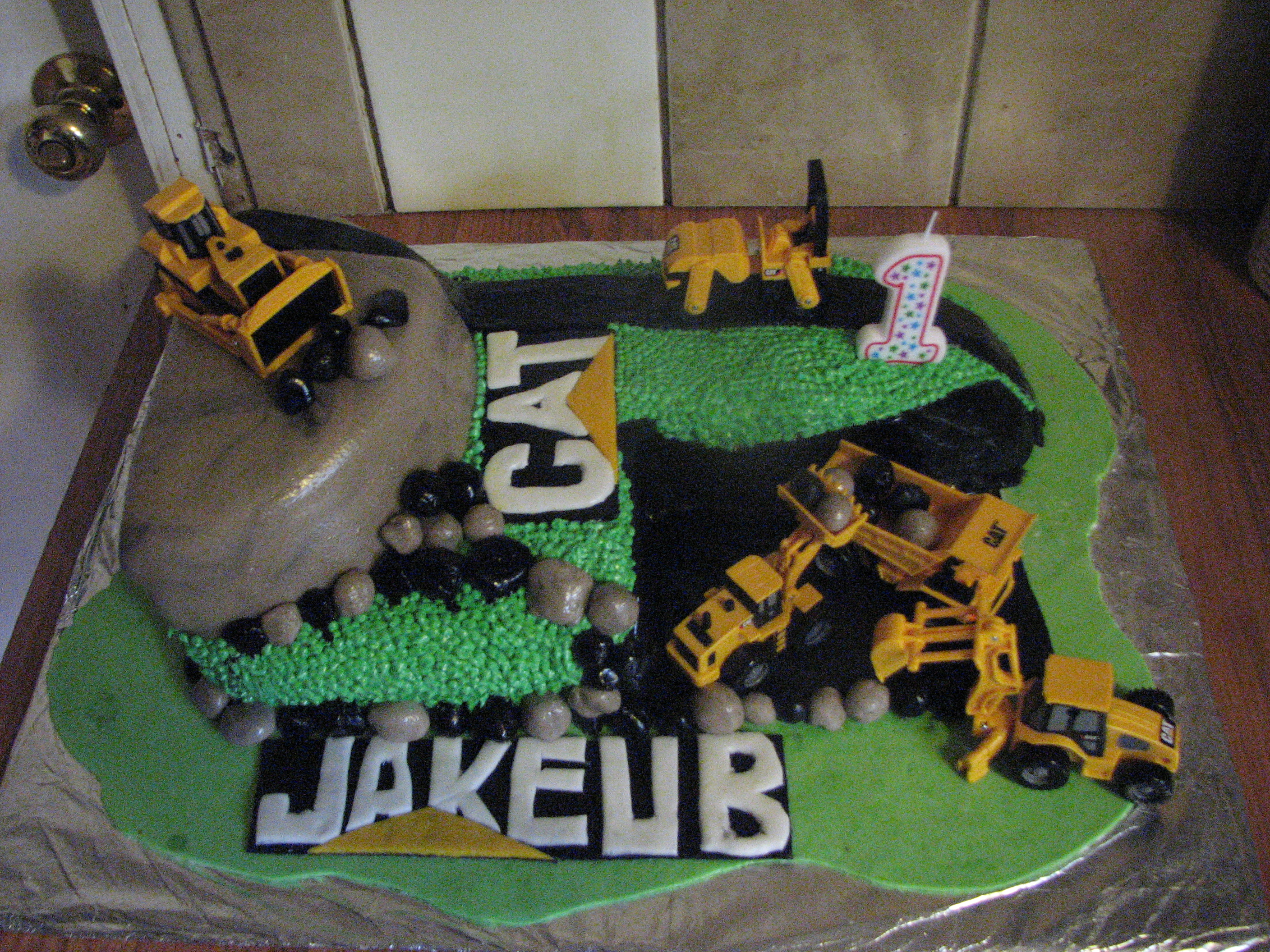 Cat Dozer Birthday Cake