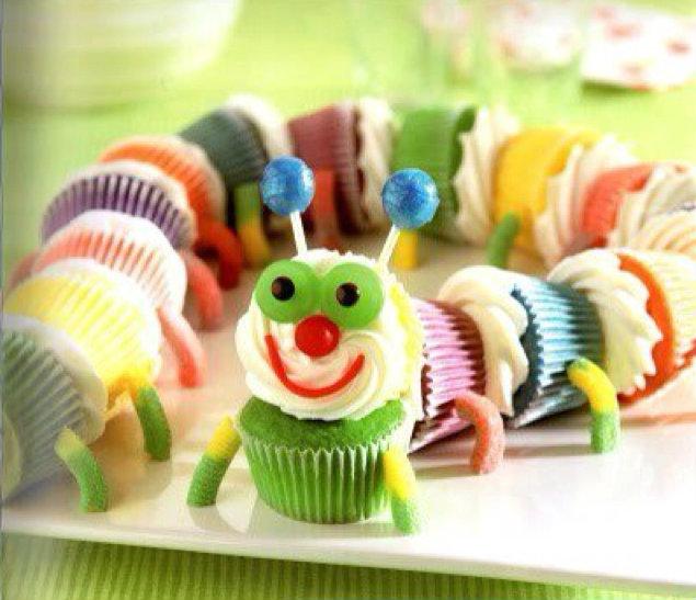 Caterpillar Cupcake Birthday Cake
