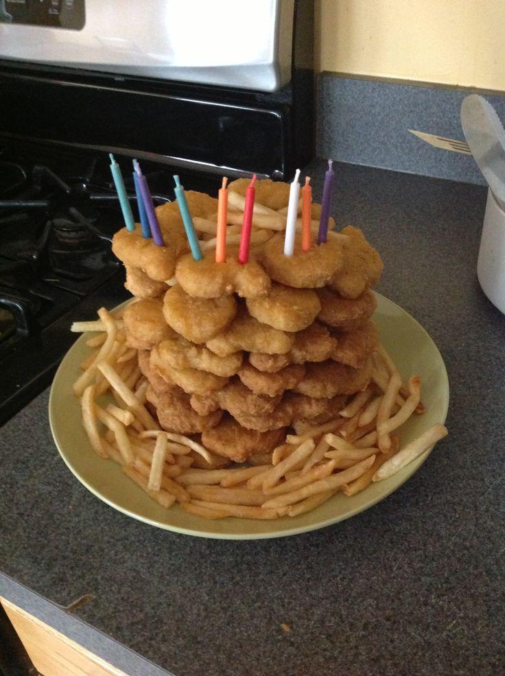 Chicken Nugget Birthday Cake