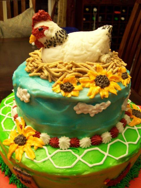 Chicken Themed Birthday Cakes