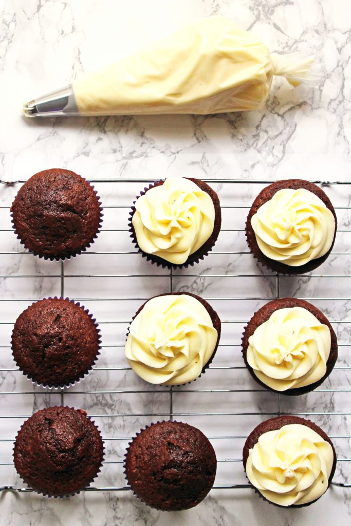 Chocolate Cupcakes with Fruit