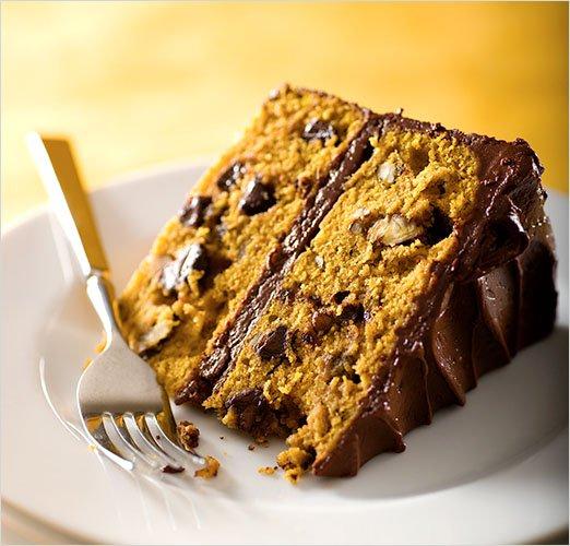 Chocolate Pumpkin Layer Cake Recipe
